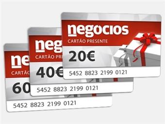Ofereça um Cartão Presente do Negócios a quem mais gosta. É fácil, rápido, original e pode oferecer quantos quiser.
