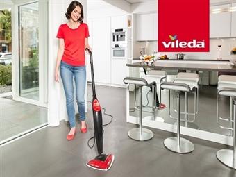 VILEDA Steam - Limpeza a Vapor: Higieniza os pavimentos e carpetes eliminando 99,9% das bactérias por 80€. VER VIDEO. PORTES INCLUIDOS.
