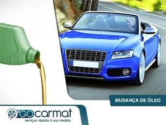 GOCARMAT OFICINAS: Reposição de Níveis, Substituição do Óleo e do Filtro, Filtro do Ar e Habitáculo, Filtro de Combustível e Carga de AC por 139€.
