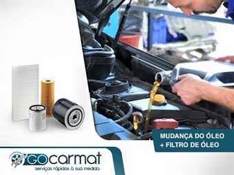 GOCARMAT OFICINAS: Mudança de Óleo 10w40/5w40 ou 5w30, Filtro de Óleo, Check-Up & Diagnóstico por 45€.