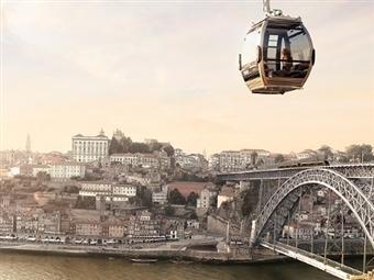 GAIA e PORTO: 2 Noites de Hotel, Passeio de Teleférico, Cruzeiro 6 Pontes e Visita a Cave do Vinho do Porto com Degustação por 76€. CRIANÇA GRÁTIS.