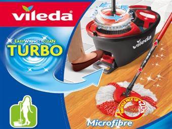 Easy Wring & Clean TURBO: Novo Balde com Pedal e Esfregona da VILEDA por 35€. VER VIDEO. PORTES INCLUIDOS.