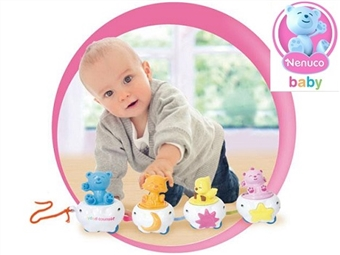 Nenuco Baby Comboio de Arraste: Comboio que Emite Sons e Diferentes Movimentos ao ser Puxada pelo Bebé por 17€. ENTREGA: 48H. PORTES INCLUÍDOS.
