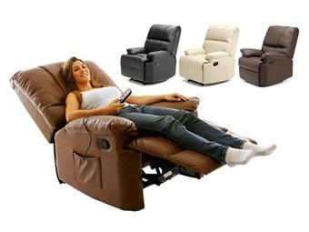 Poltrona de Massagens por Vibração por Zonas com Aquecimento Lombar, Inclinação, Comando e 3 Cores à escolha por 279€. PORTES INCLUIDOS.