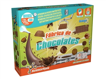 Fábrica de Chocolates: Aprende e Produz os teus Próprios Chocolates, como Bombons, Brownies ou Bolachas por 20€. ENTREGA: 48H. PORTES INCLUÍDOS.