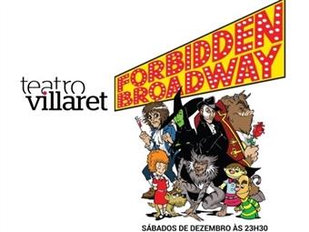 Forbidden Broadway: Espectáculo Musical e Humorístico no Teatro Villaret em Lisboa por 7€.