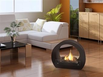 Biolareira Grande em Preto por 255€. Chamas e calor sem odor nem cinzas para uso em ambiente interno e ar livre. PORTES INCLUÍDOS.