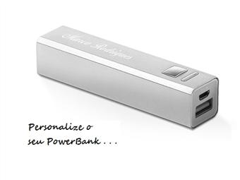Power Bank com Personalização Laser e Cabo Micro USB por 12€. Tecnologia Personalizada.