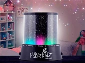 Projetor de Estrelas PlayZ KidZ. A luz ideal para o quarto das crianças por 12€. Funciona com Pilhas ou Cabo USB. PORTES INCLUIDOS.
