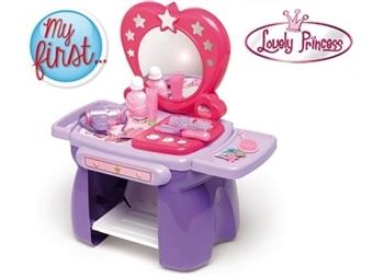 O Meu Primeiro Toucador Lovely Princess: Moldar e Enrolar o Cabelo, Maquilhar, Algumas Gotas de Perfume por 25.90€. ENTREGA: 48H. PORTES INCLUÍDOS.