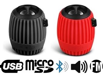 Coluna Portátil Bluetooth Resistente à Água e às Quedas com 2 Cores à Escolha, Rádio, Mãos-livres, Suporta MicroSD e USB por 20.90€. ENVIO IMEDIATO e PORTES INCLUÍDOS.