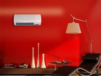 Climatizador Cerâmico Elétrico de Parede com Comando por 47€. Calor ou Ventilação sem Tubos ou Obras. PORTES INCLUÍDOS.