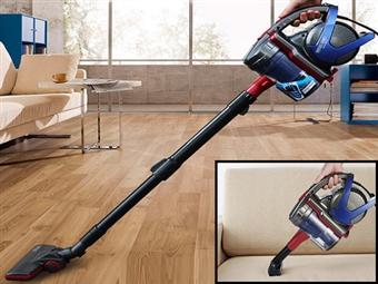 Aspirador sem Saco Cyclone Brush Wet&Dry por 69€. Fácil de Armazenar, Leve e Acessível. Ideal para Limpar as suas Escadas. PORTES INCLUÍDOS.