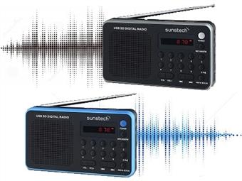 Rádio Digital Portátil com 70 Pré-sintonizações, MP3, Leitor de Cartões, USB, Ligação para Auriculares e 2 Cores à Escolha por 22€. PORTES INCLUÍDOS.