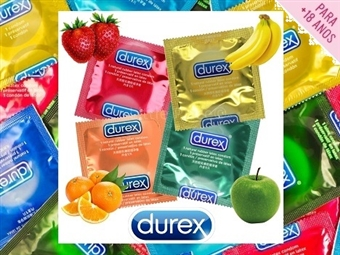 Pack de Preservativos DUREX Frutas de 30, 50 ou 100 unidades desde 19.90€. Paixão Assegurada! PORTES INCLUÍDOS.