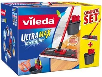 Ultramax da VILEDA: Balde com Espremedor e Mopa com Cabo Tripartido por 30€. PORTES INCLUIDOS.
