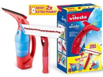 WindoMatic Set da VILEDA: Aspirador de vidros sem fios e Mopa com pulverizador incorporado por 49€. VER VIDEO. PORTES INCLUIDOS.