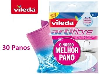 30 Panos Actifibre - O Melhor Pano da VILEDA por 35€. Limpa, absorve e retém líquidos como nenhum outro. Veja o Video! PORTES INCLUIDOS.
