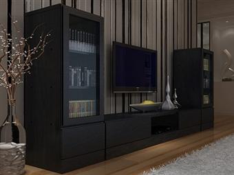 Móveis de Sala em Wengue por 215€. Um design urbano e espaçoso para decorar a sua sala. PORTES INCLUÍDOS.