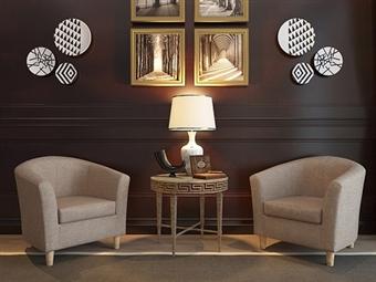 Sofá Individual em Tecido Bege por 117.50€. Um design versátil para o espaço que pretende na sua sala. PORTES INCLUÍDOS.