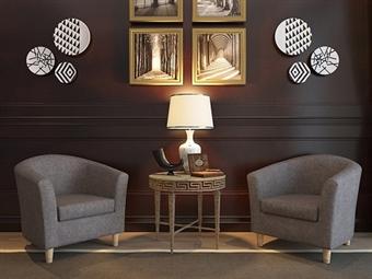 Sofá Individual em Tecido Cinza por 117.50€. Um design versátil para o espaço que pretende na sua sala. PORTES INCLUÍDOS.
