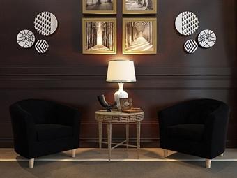 Sofá Individual em Tecido Preto por 117.50€. Um design versátil para o espaço que pretende na sua sala. PORTES INCLUÍDOS.