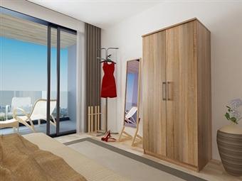 Roupeiro de 2 Portas com 2 Cores à Escolha por 139€. Um modelo prático com muita arrumação para o seu quarto. PORTES INCLUÍDOS.