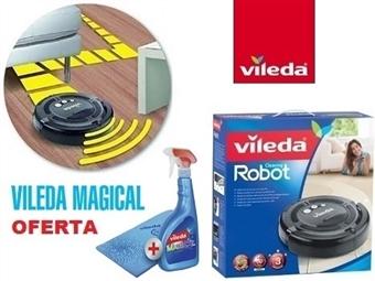 SUPER PREÇO: Robot Aspirador Cleaning Robot + Conjunto Vileda Magical por 109€. Veja o Video! PORTES INCLUIDOS. EXCLUSIVO.