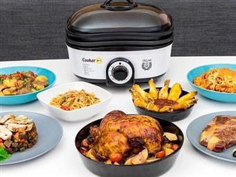 Robot de Cozinha 8 em 1 com 5L: Aquece, Ferve, Cozimento Lento, Vapor, Grelha, Saltear, Forno, Frita e Fondue por 65.90€. VER VIDEO. PORTES INCLUÍDOS.