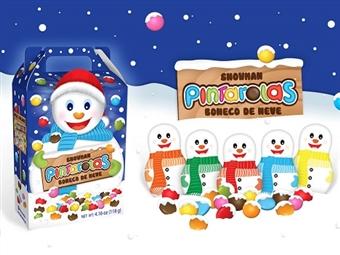 Boneco de Neve PINTAROLAS da REGINA por 7€. Caixinha cheia de coloridos pedaços de chocolate para pequenos desejos. ENVIO IMEDIATO e PORTES INCLUÍDOS.