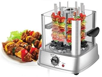 Grelhador Vertical com Sistema Rotativo 360º e Acesso Fácil: Pode Preparar 10 Espetadas Deliciosas e Saudáveis em sua Casa por 85€. PORTES INCLUÍDOS.