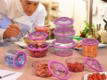 Conjuntos de Caixas de Silicone Resistentes para Alimentos de 8, 10 ou 18 Peças desde 22.90€. Ideais para o Microondas e Congelador. PORTES INCLUÍDOS.