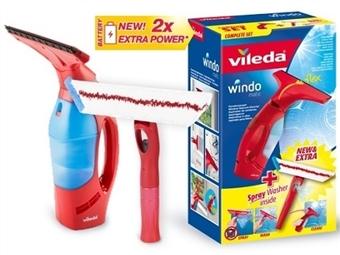 WindoMatic Set da VILEDA: Aspirador de vidros sem fios e Mopa com pulverizador incorporado por 44€. VER VIDEO. PORTES INCLUIDOS.