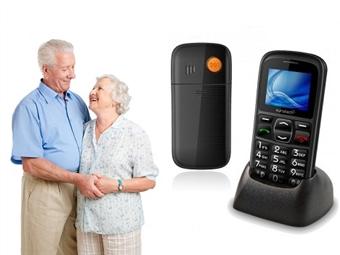 Telemóvel para Seniores com Botão SOS, SMS com Localização, Teclas Grandes e Ajuda Vocal para uma Fácil Utilização por 28.90€. ENVIO IMEDIATO e PORTES INCLUÍDOS.