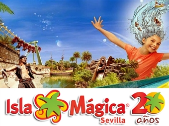ISLA MÁGICA: 3 Entradas de 1 Dia Completo por 65€. 20 Anos de Magia e Diversão para toda a Família em Sevilha. VER VIDEO.