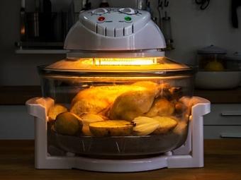 SUPER PREÇO: Forno Multifunções: Cozinha, Ferve, Assa, Coze, Descongela, Desidrata, Seca, Esteriliza, Tosta e Gratina por 44.90€. PORTES INCLUÍDOS.