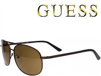 Óculos de Sol GUESS GUF108BRN1 com estojo da marca e proteção contra raios ultravioleta por 33€. ENVIO IMEDIATO e PORTES INCLUÍDOS.