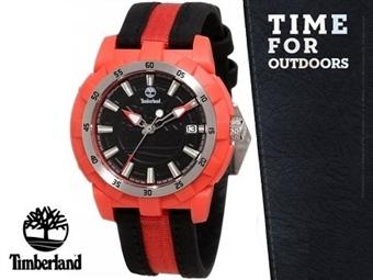 Relógio de Pulso TIMBERLAND Black & Red por 33€. O presente ideal para o Homem que gosta da Natureza. ENVIO: 48H. PORTES INCLUÍDOS.