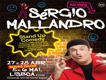 STAND UP COMEDY com Sérgio Mallandro em no El Corte Inglês em Lisboa por 12€. Rir Custa tão pouco.