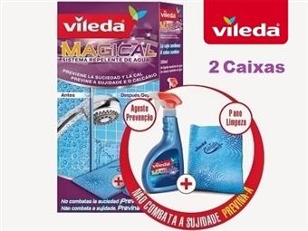 2 Caixas de VILEDA MAGICAL (2 Soluções e 2 Panos) por 15€. Previna a sujidade e desfrute da sua casa limpa mais tempo! PORTES INCLUIDOS.