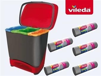 Balde Eco-Logic com 5 Rolos de Sacos de Lixo Ecobag da VILEDA desde 29€. É muito fácil salvar o planeta. Fácil e cómodo. PORTES INCLUIDOS.