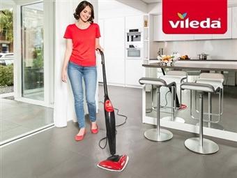 VILEDA Steam - Limpeza a Vapor: Higieniza os pavimentos e carpetes eliminando 99,9% das bactérias por 80€. PORTES INCLUIDOS.