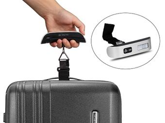 Balança Digital com Termómetro: Pequena e Fácil de Transportar por 14.90€. Os Problemas com o Excesso de Peso na Bagagem Terminaram. PORTES INCLUÍDOS.