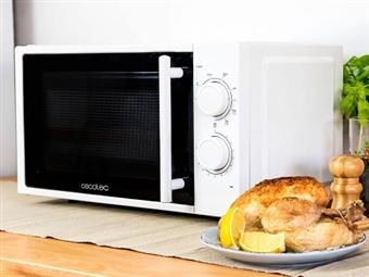 Microondas com Grill de 20 L: 5 Níveis de Potência com Modo de Descongelação e Grill com 3 Modos Combinados por 69€. PORTES INCLUÍDOS.