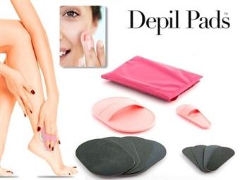 Conjunto Depil Pads que Depila e Esfolia a sua pele sem irritações ou produtos químicos por 9€. PORTES INCLUIDOS.