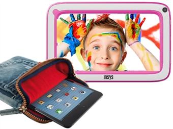 """Tablet de Criança KidsPad 7"""" Rosa com 4GB, 512MB RAM, 1.2GHz, Android e OFERTA de MicroSD de 256MB e Bolsa por 49€. Fino e Leve. PORTES INCLUÍDOS."""