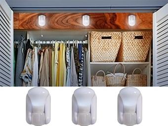 Pack de 3 Lâmpadas LED sem Fios por 12€. Para que tenha luz onde for necessário sem se preocupar com qualquer instalação elétrica. PORTES INCLUÍDOS.