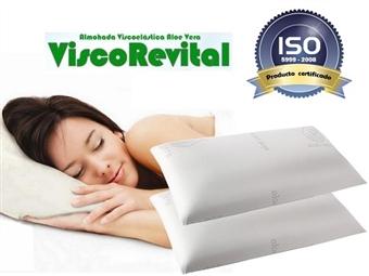 2 Almofadas Viscoelásticas com 90x35cm e Tratamento de Aloe Vera por 35€. Descanso cervical completo. PORTES INCLUÍDOS.