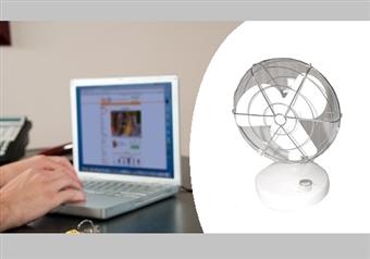 Mini Ventoinha com Ligação USB, Opção de Posição Fixa ou Rotativa por 11€. Pequena, Leve e Portátil. PORTES INCLUÍDOS.