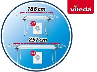 Estendal Extensível Infinity da VILEDA por 52€. Permite estender até 27 m de roupa. PORTES INCLUIDOS.